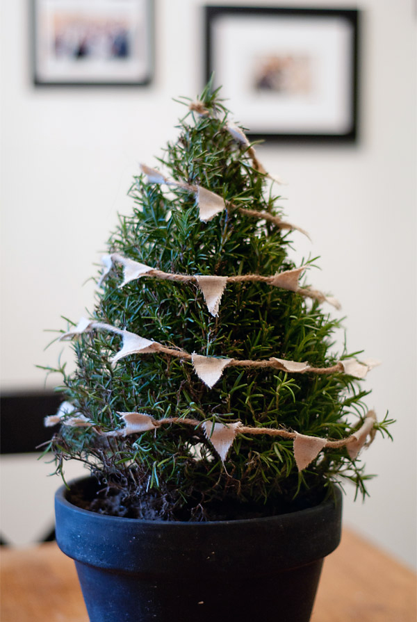 Tree Centerpiece with Bunting