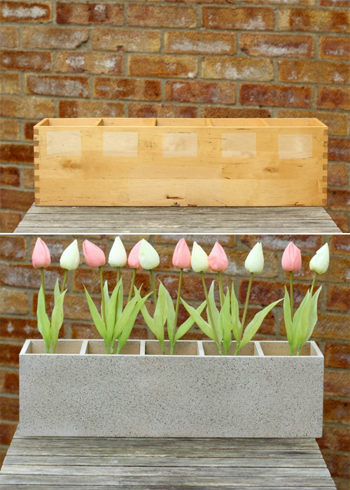 Turn an old CD rack into Garden Planter
