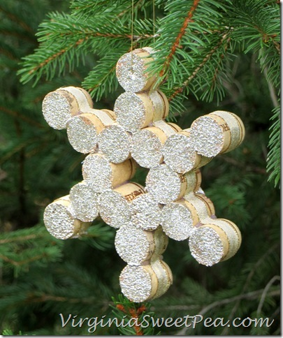 Wine Cork Snowflake Ornament