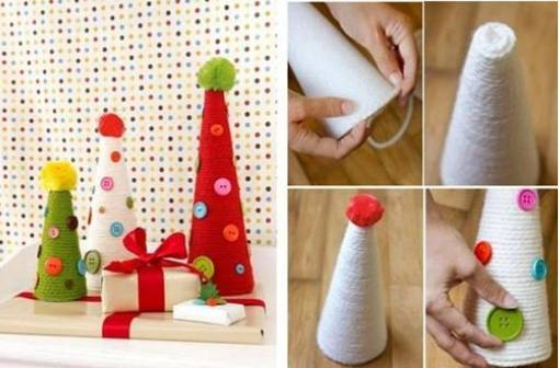 Yarn Wrapped Christmas Tree