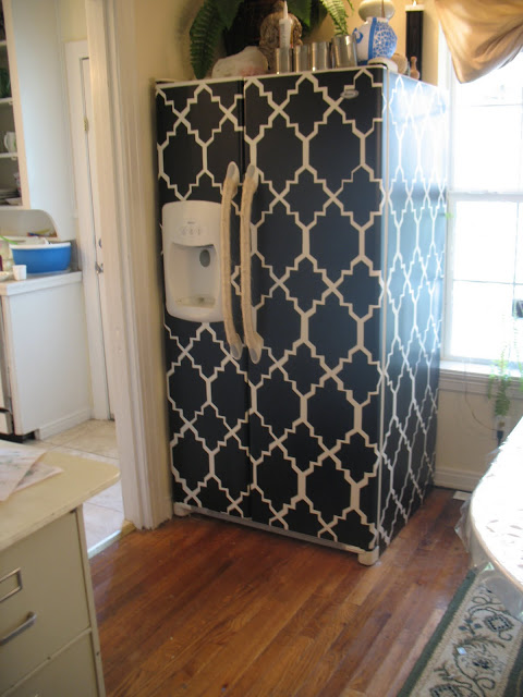 contact-paper-fridge-makeover Paint Ideas For Painted Kitchen Cabinets on paint ideas for wine cabinets, diy antique painting kitchen cabinets, chalkboard paint ideas for kitchen cabinets, black kitchen cabinets,