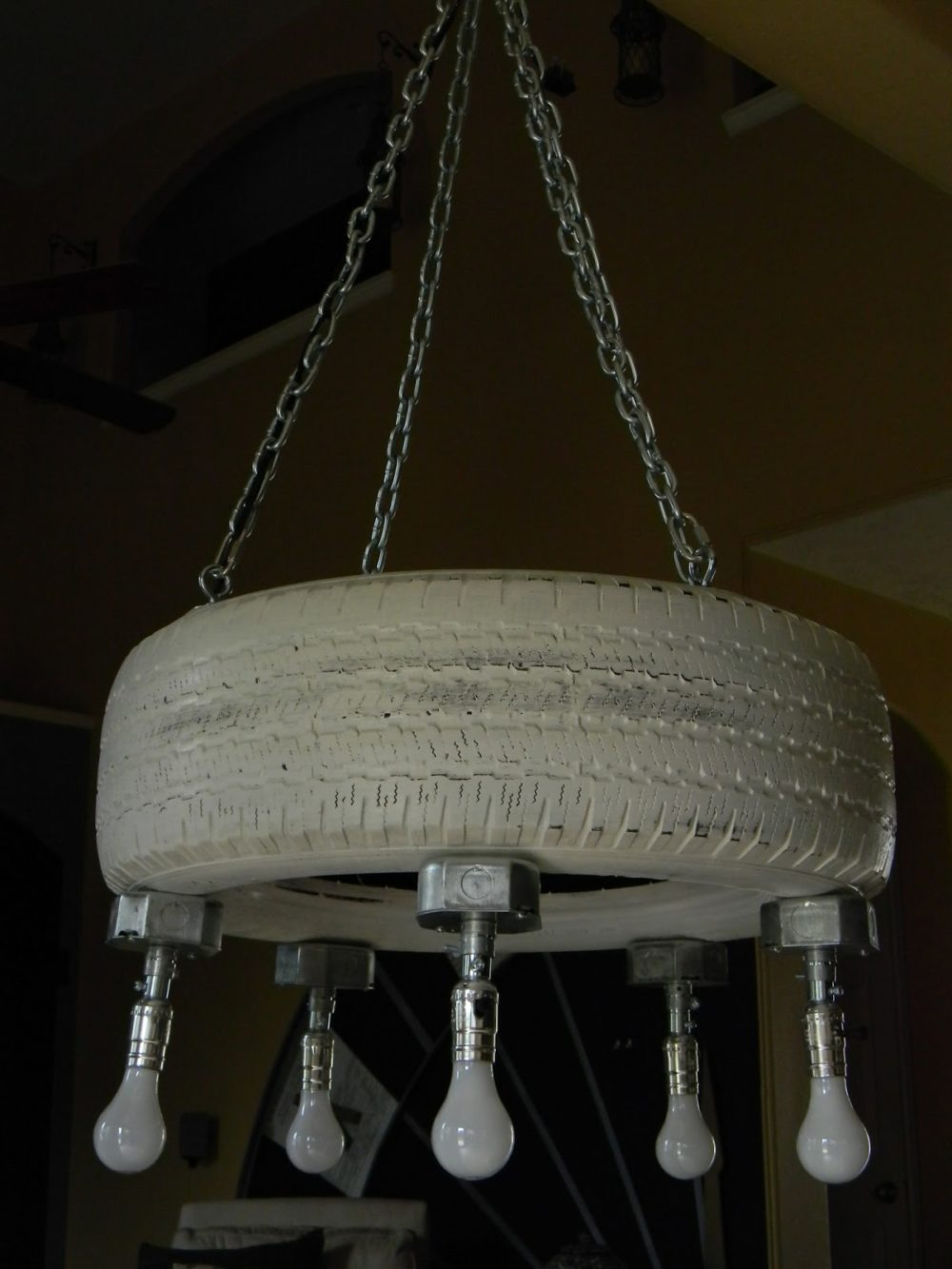 tire chandelier