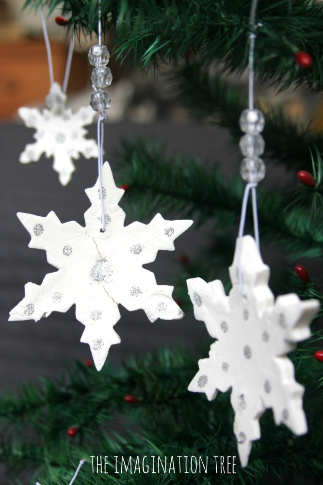 White Clay Christmas Decorations
