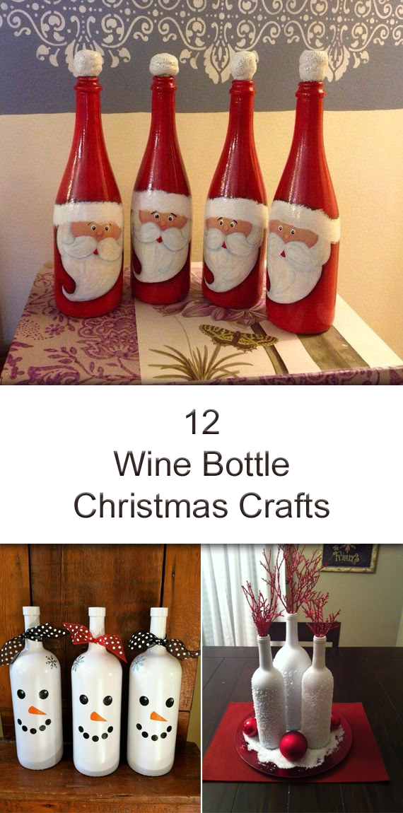 12 amazing wine bottle christmas crafts - Christmas Wine Bottle Decorations