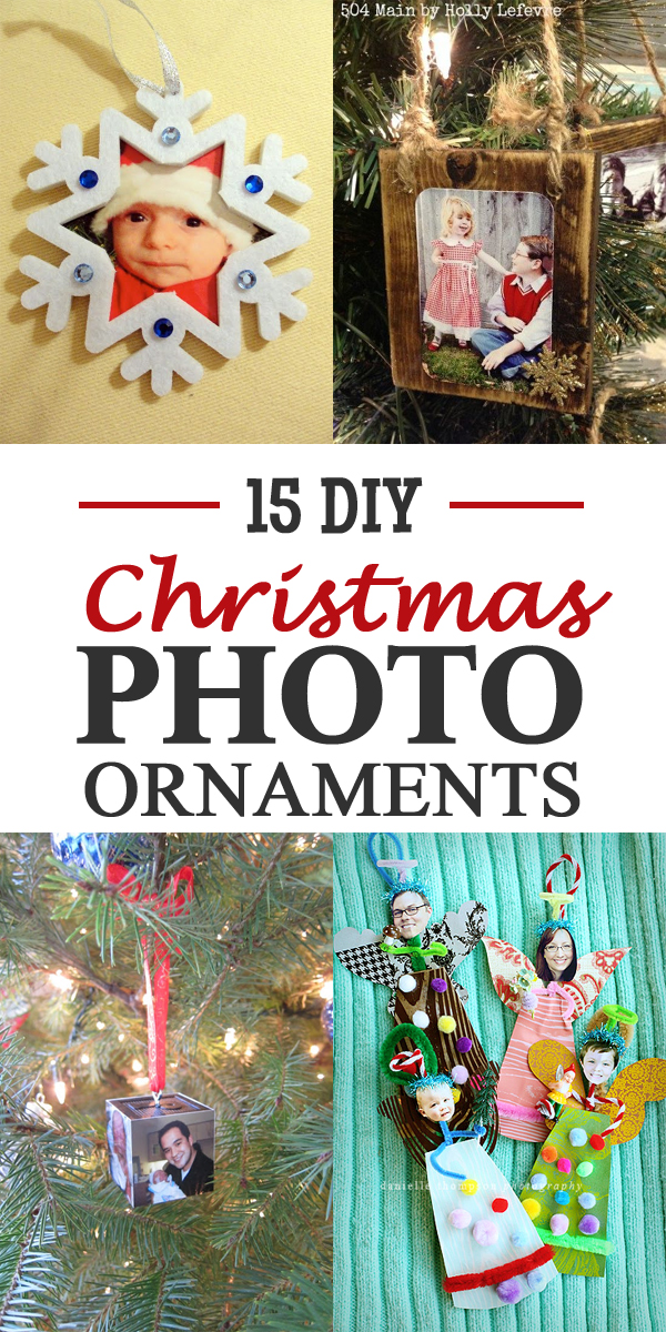 15 Amazing DIY Christmas Photo Ornaments