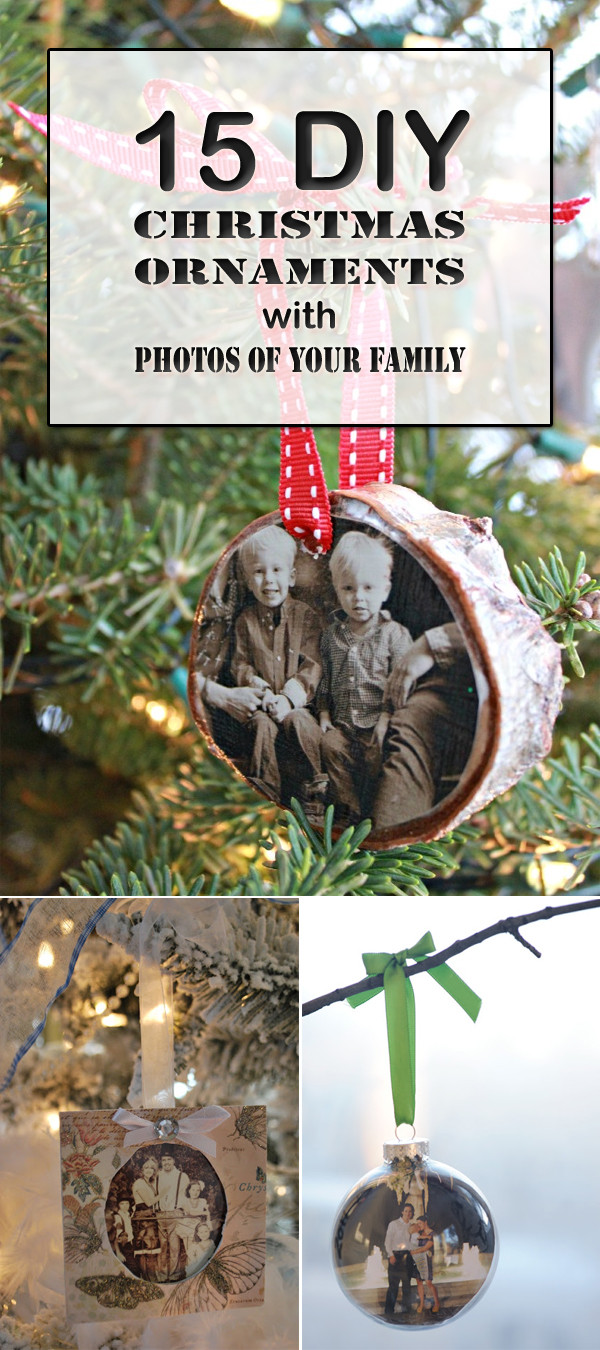 15 DIY Christmas Ornaments with Photos of Your Family