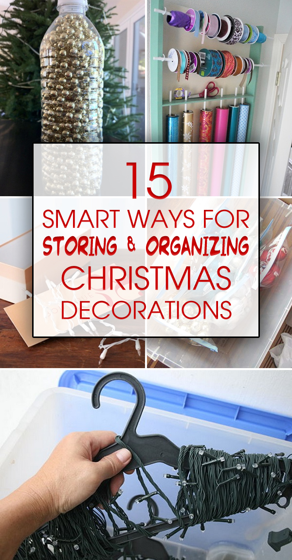 15 Smart Ways for Storing & Organizing Christmas Decorations