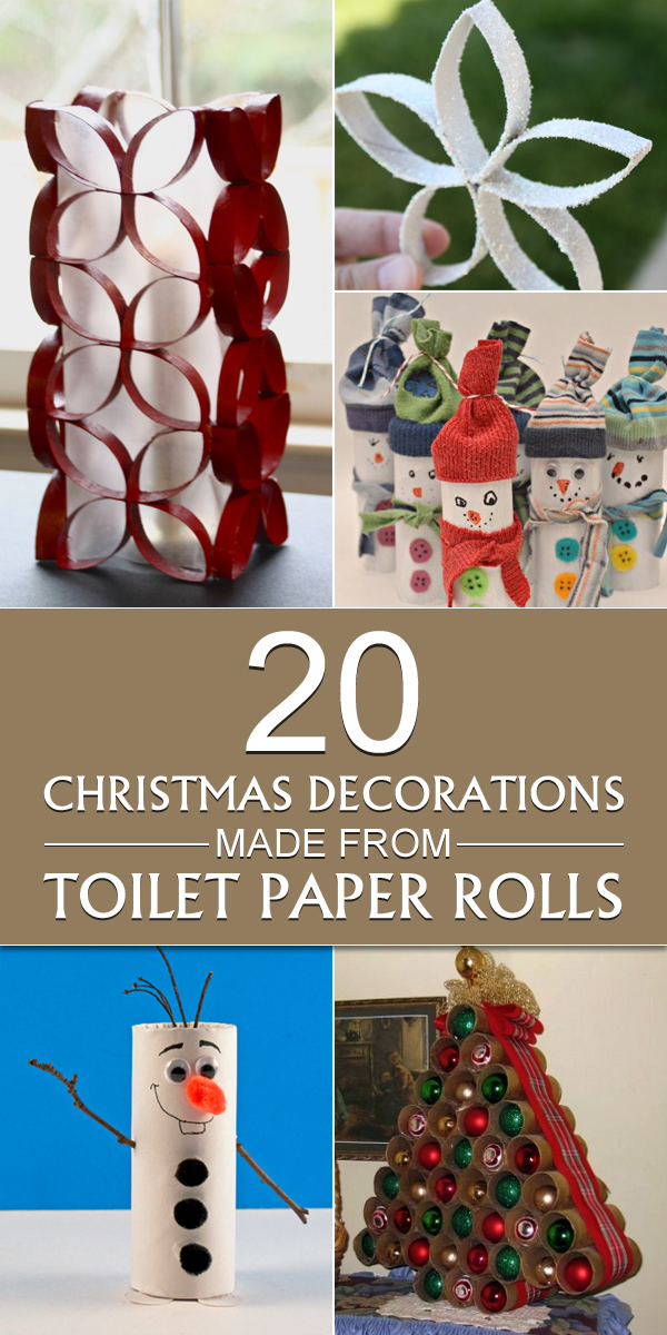20 Christmas Decorations Made From Toilet Paper Rolls ~ 043503_Christmas Decoration Ideas Using Toilet Paper Rolls