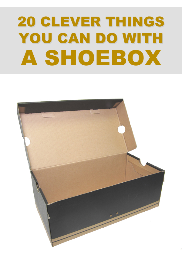 20 clever things you can do with a shoebox for Cool things to make with paper for your room