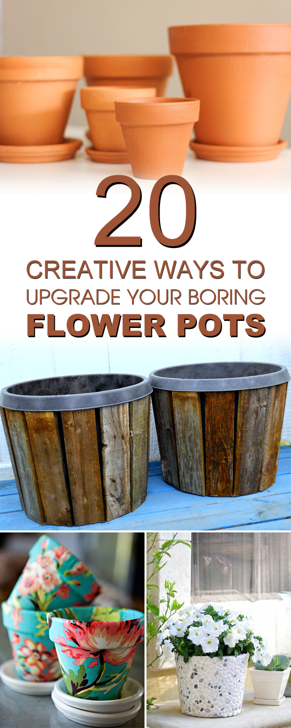 20 Creative Ways to Upgrade Your Boring Flower Pots