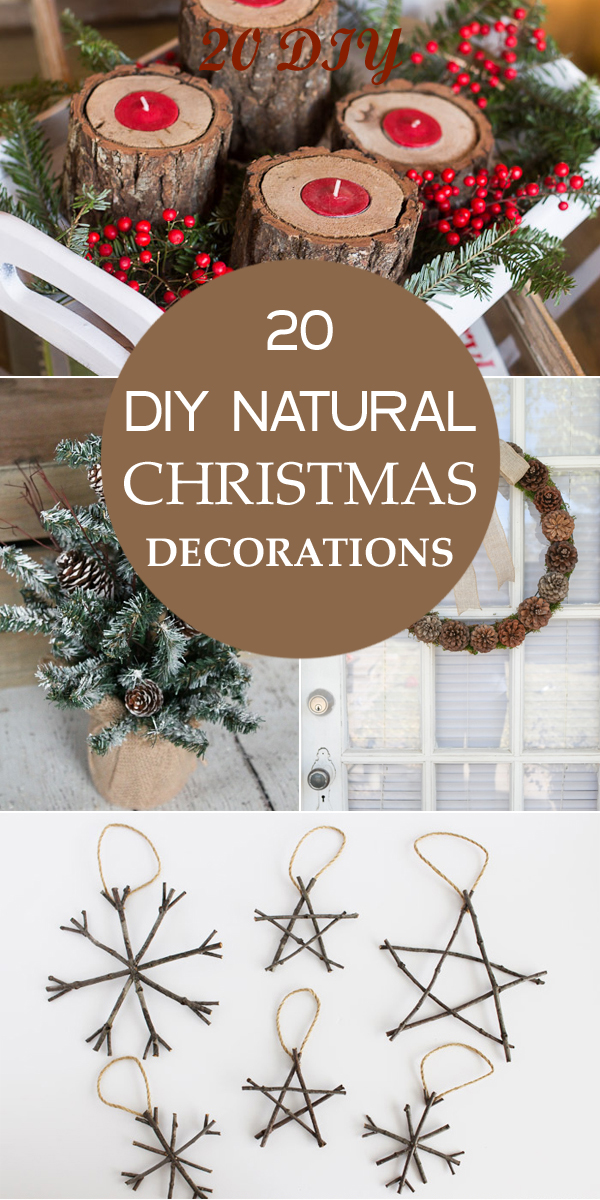 20 diy natural christmas decorations. Black Bedroom Furniture Sets. Home Design Ideas