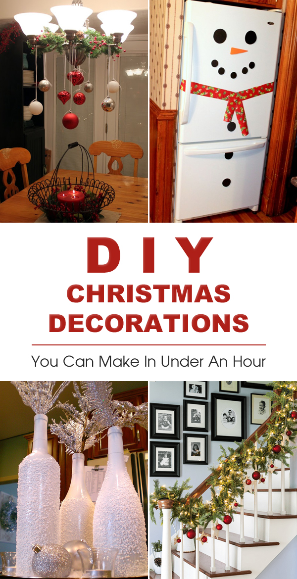 20 Easy DIY Christmas Decorations You Can Make In Under An Hour