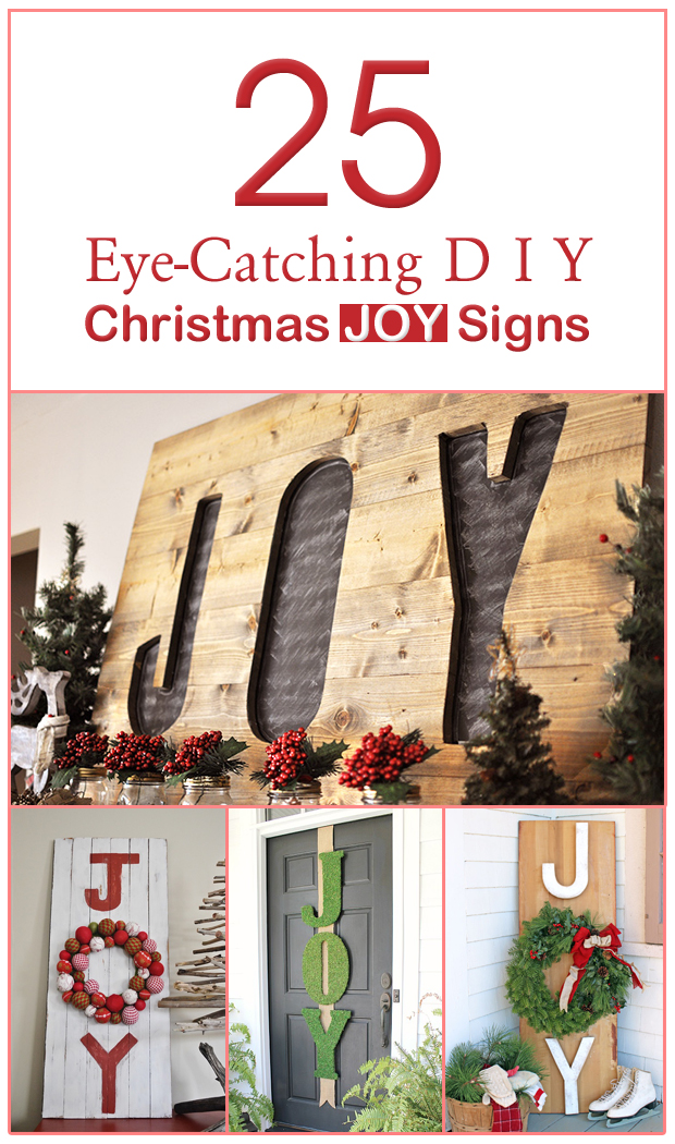 25 Eye-Catching DIY Christmas JOY Signs