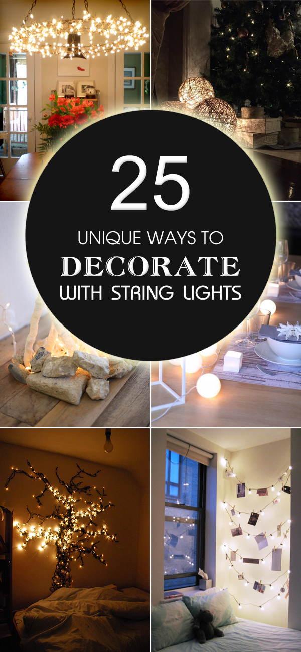 25 Unique Makeup Artist Tattoo Ideas On Pinterest: 25 Unique Ways To Decorate With String Lights