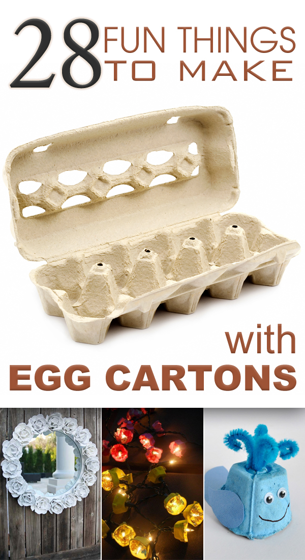 28 fun things to make with egg cartons