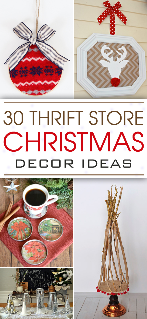 30 thrift store christmas decor ideas for Where can i get christmas decorations