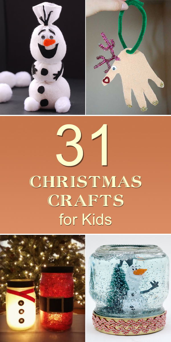 31 Easy & Cheap Christmas Crafts for Kids