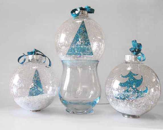 Art Glitter Tree Ornaments