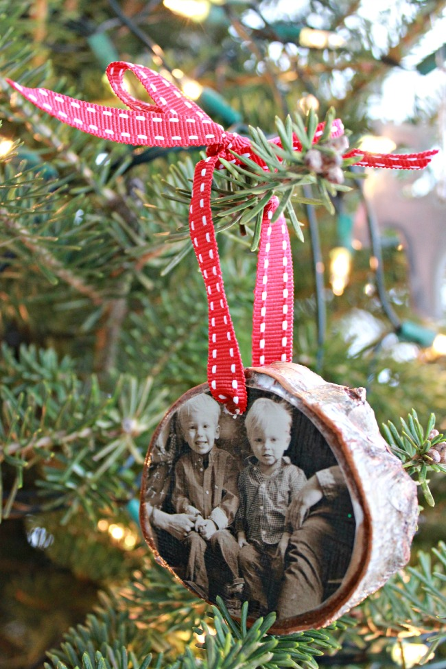 Birch Coaster Photo Ornaments