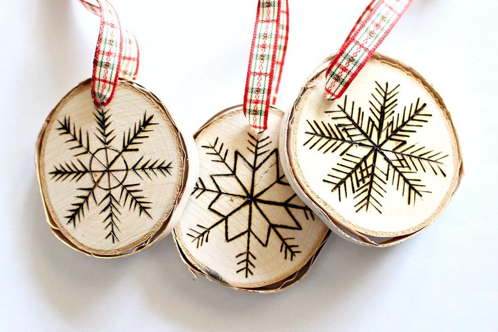 Birch Wood Slice Ornaments