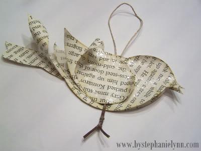 Book Page Bird