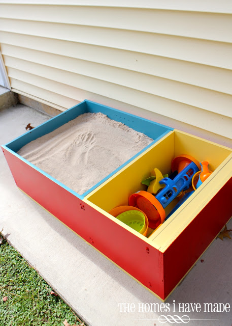 Bookcase Turned Modern Sandbox