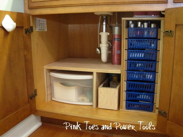 20 cheap diy storage ideas to organize your bathroom for Under counter bathroom storage ideas