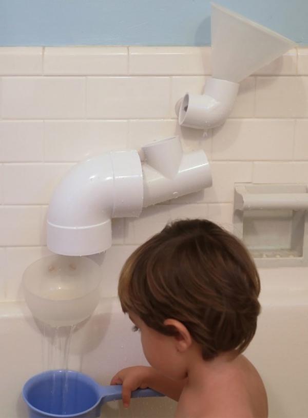 Build bath toys using PVC pipe
