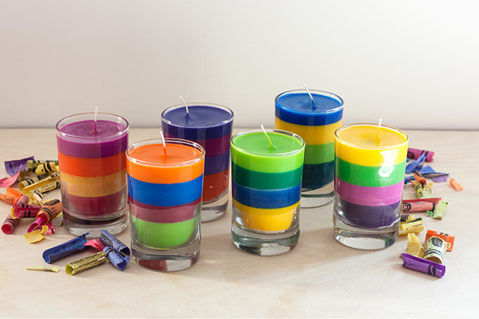 Candles Made from Broken Crayons