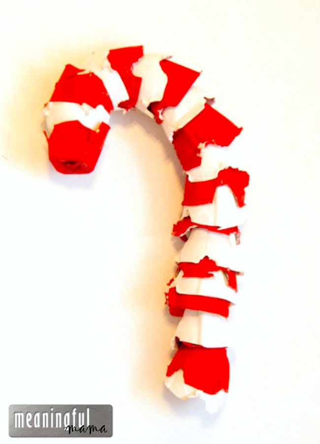 Candy Cane Craft with Egg Cartons and Candy Cane Symbolism