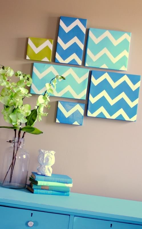 Chevron Shoebox Wall Art