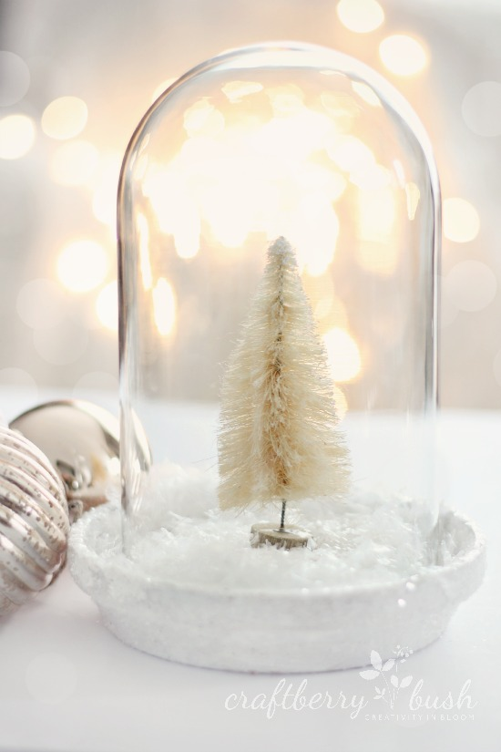 Christmas Cloche out of glass dome from clock