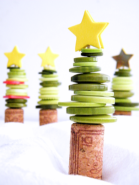 Cork & Button Christmas Tree Craft