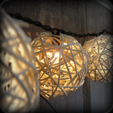 Craft a lovely twine-ball light garland