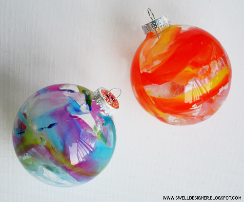Crayon Drip Ornaments