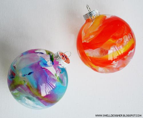 Crayon Drip Ornaments