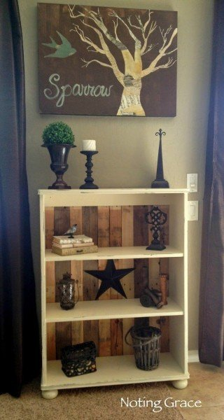 Create A Pallet Backed Book Case