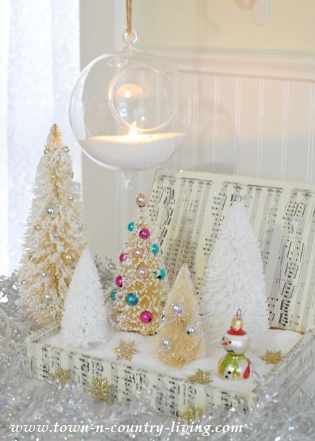 Create this beautiful Christmas scene