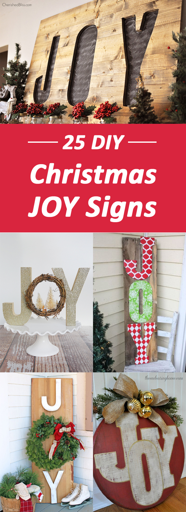 DIY Christmas JOY Signs