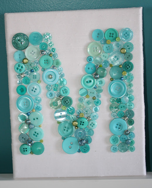 Decorate Your Blank Walls with These Beautiful Button Letters