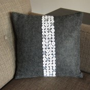 Dress up a Simple Throw Pillow with Rows of Buttons