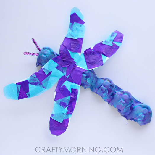 Egg Carton Dragonfly Craft