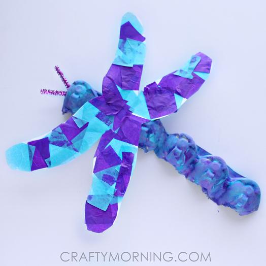 Egg Carton Dragonfly Craft