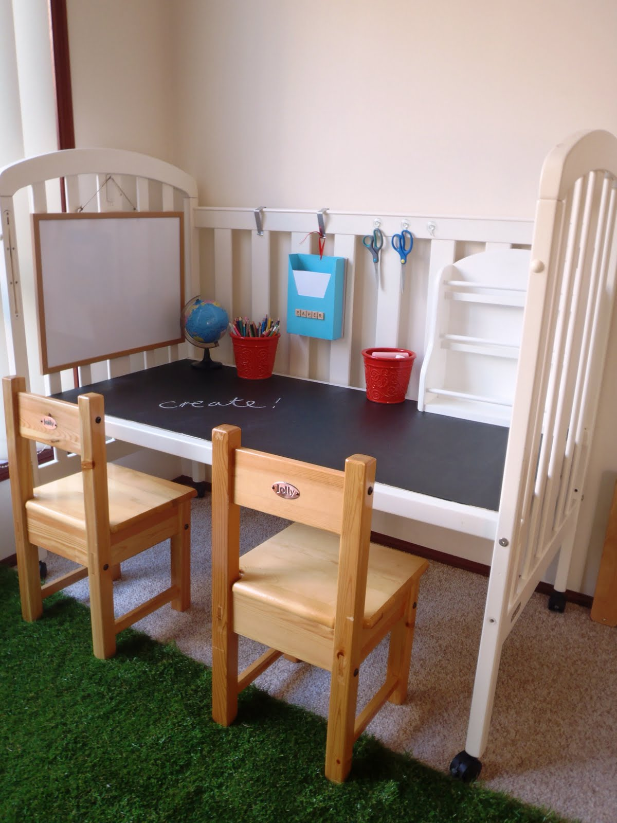 From crib to play table