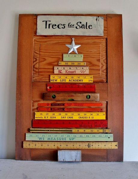 Fun Christmas tree made from rulers
