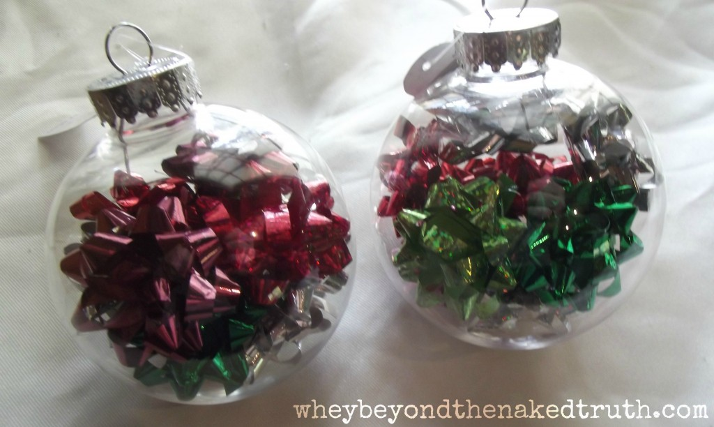 gift bow christmas ornaments - Large Plastic Christmas Decorations