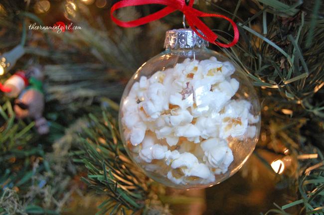 Glass Popcorn Ball Ornaments