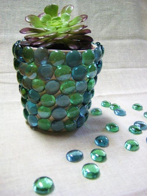 Glue glass gems