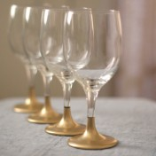 Gold Dipped Holiday Glasses