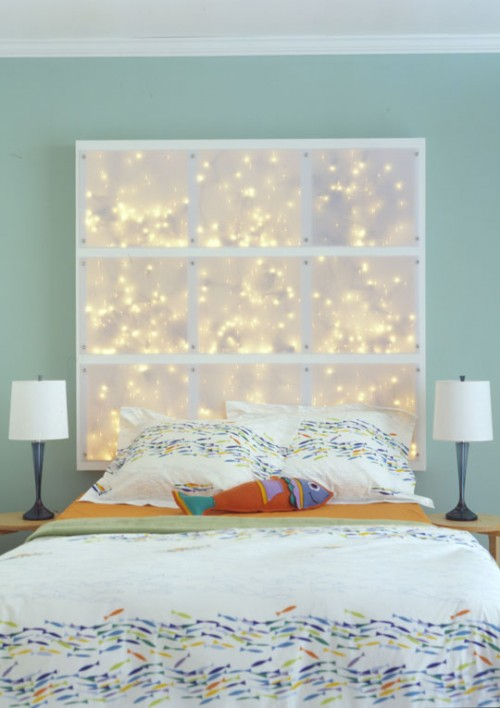 Illuminated headboard